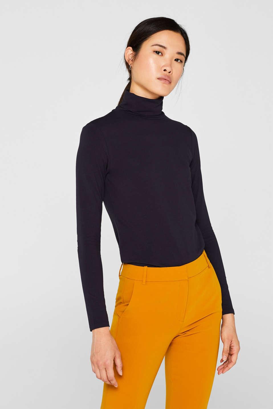 long sleeve polo neck top