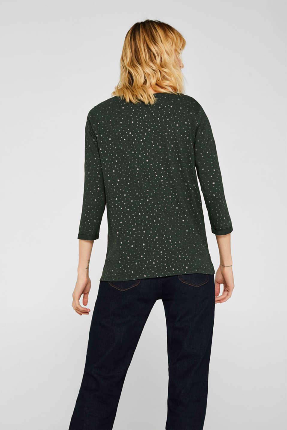 T-Shirts, BOTTLE GREEN 5, detail image number 3