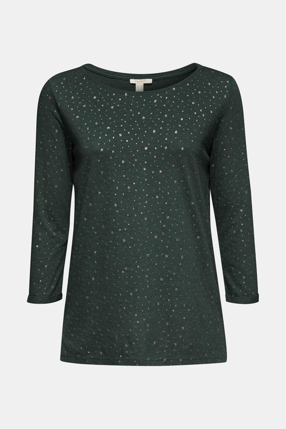 T-Shirts, BOTTLE GREEN 5, detail image number 8