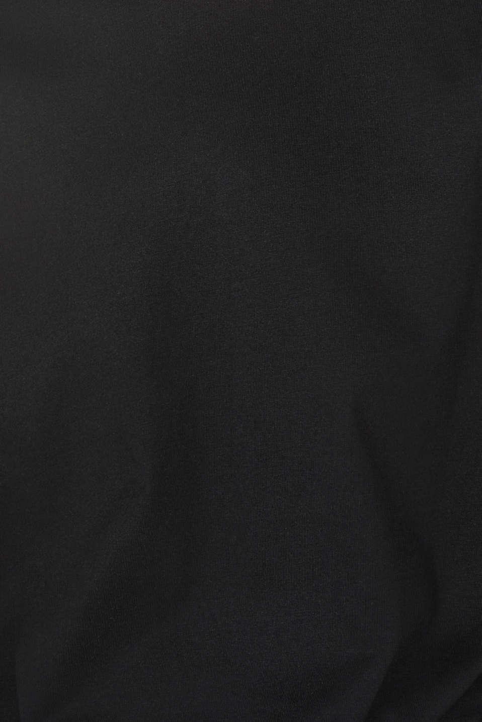 #throwback colour block top, 100% cotton, BLACK, detail image number 5