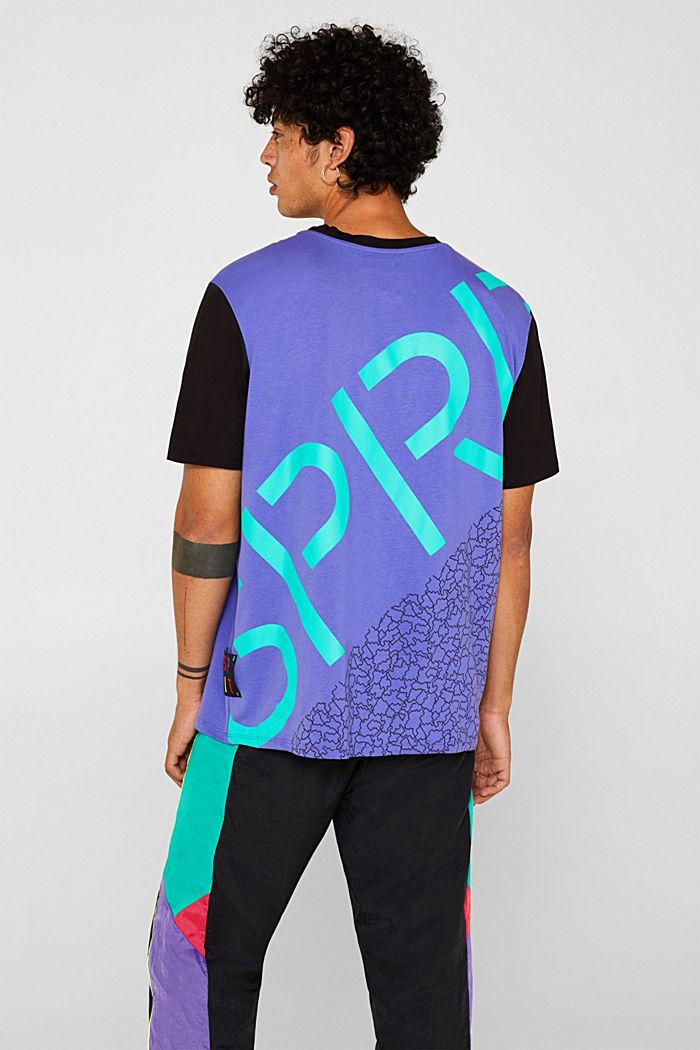 #throwback unisex colour block top, 100% cotton, PURPLE, detail image number 3