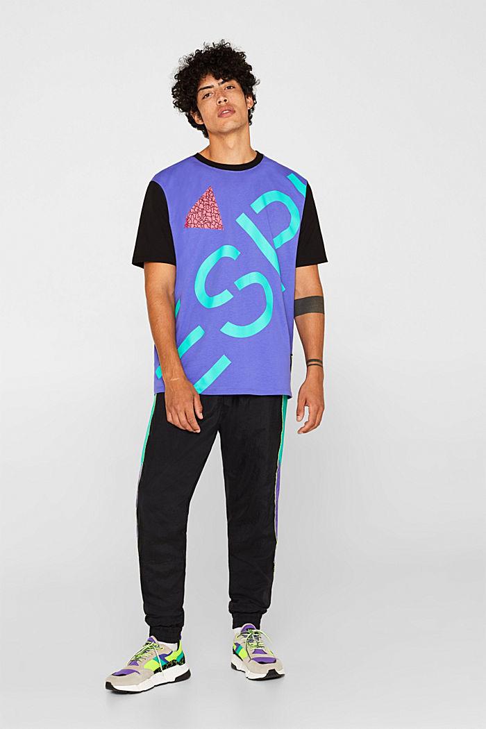 #throwback unisex colour block top, 100% cotton, PURPLE, detail image number 5