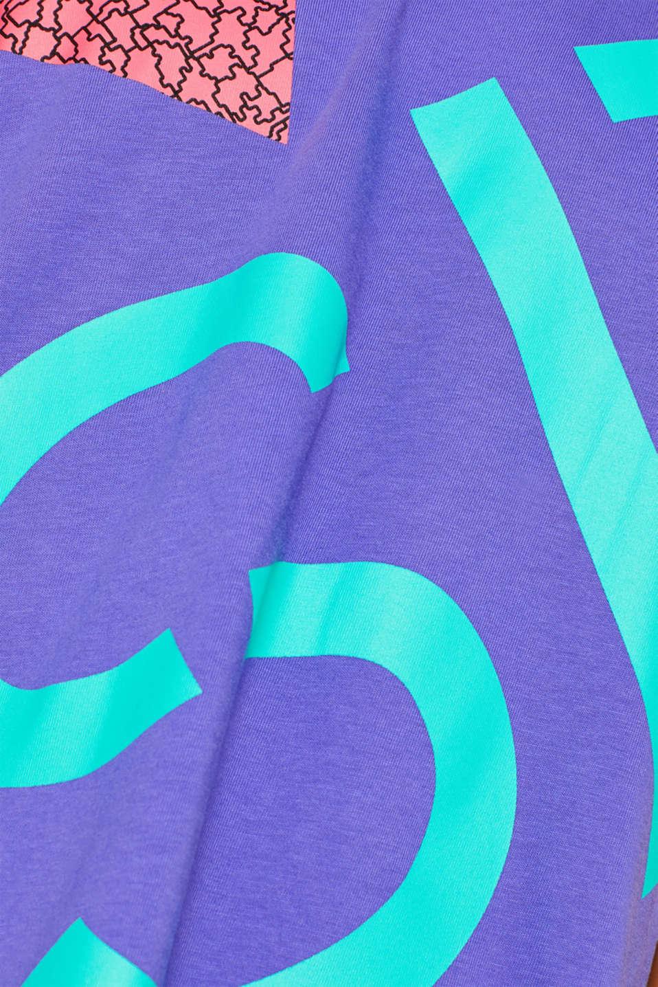 #throwback unisex colour block top, 100% cotton, PURPLE, detail image number 4