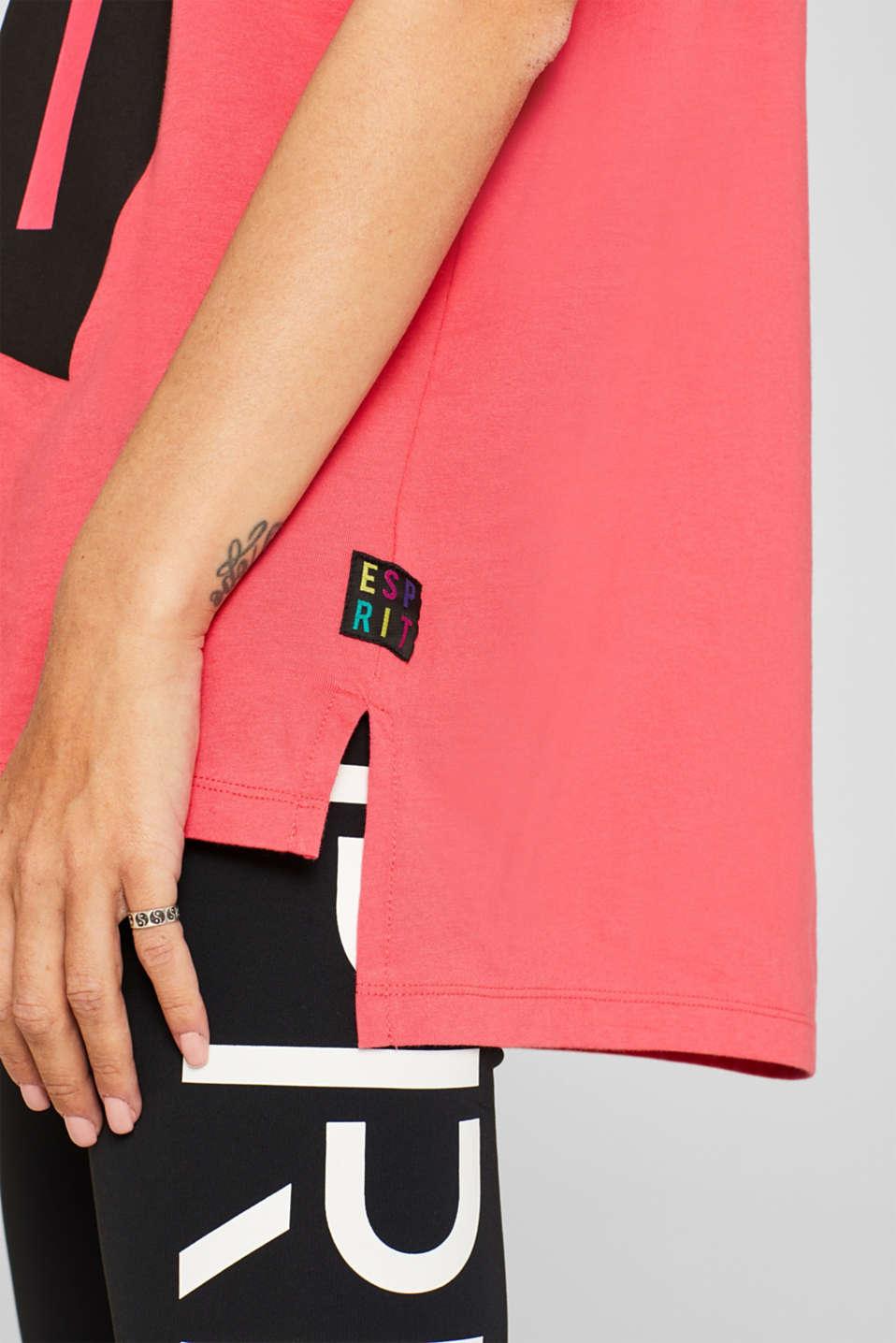 #throwback unisex logo top, 100% cotton, PINK, detail image number 2