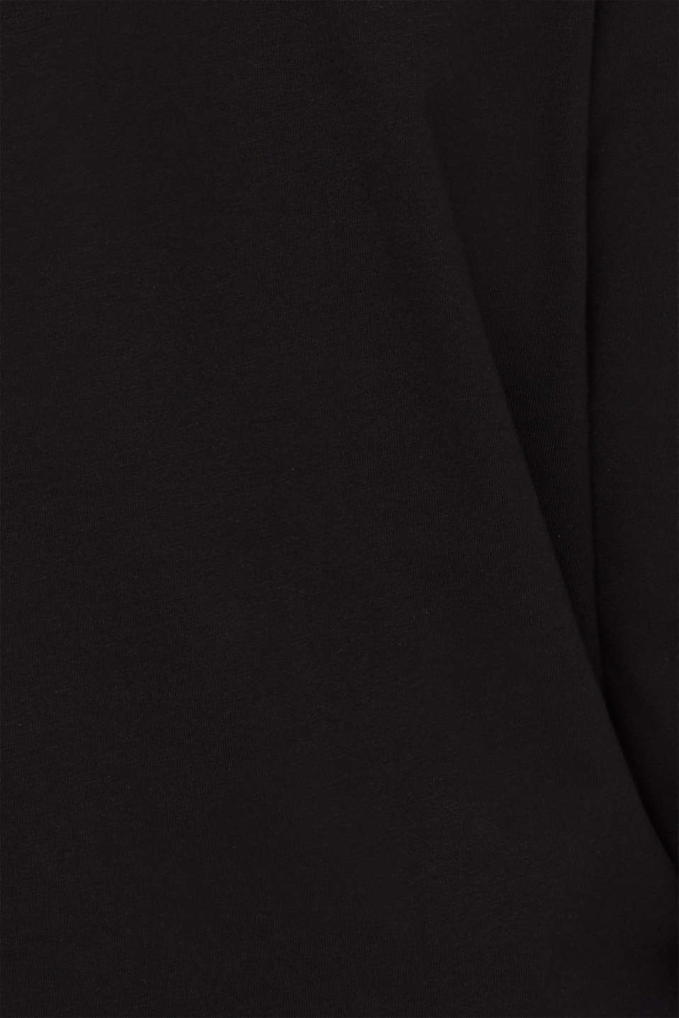 #throwback unisex long sleeve top, 100% cotton, BLACK, detail image number 5