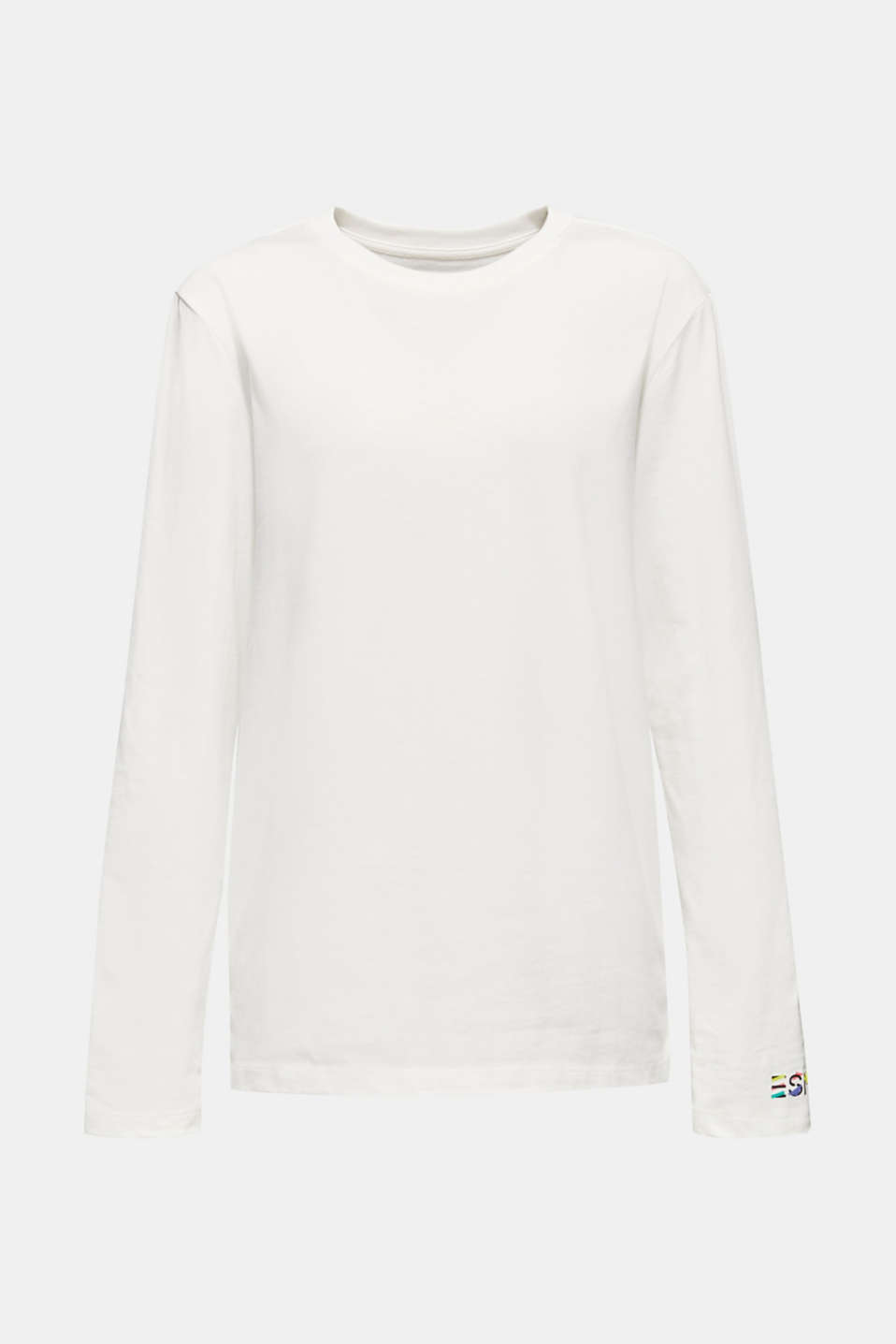 #throwback unisex long sleeve top, 100% cotton, OFF WHITE, detail image number 6