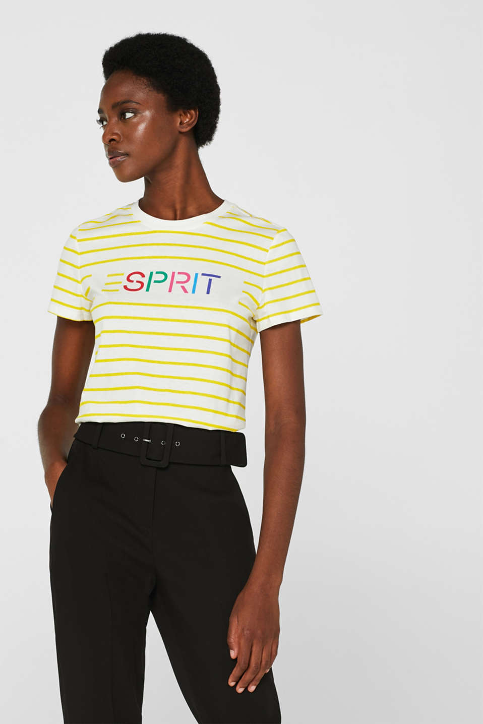 Logo top with organic cotton, BRIGHT YELLOW, detail image number 0