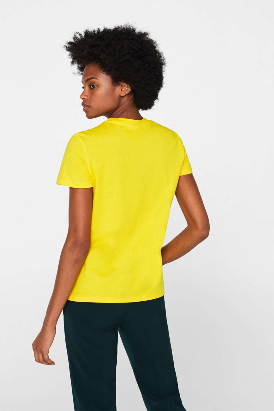 T-Shirts, BRIGHT YELLOW, detail image number 3