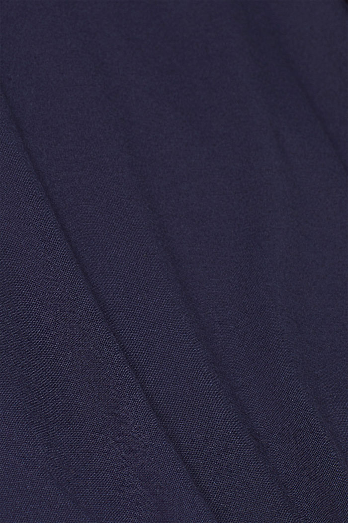 Stretch jersey T-shirt with button details, NAVY, detail image number 4