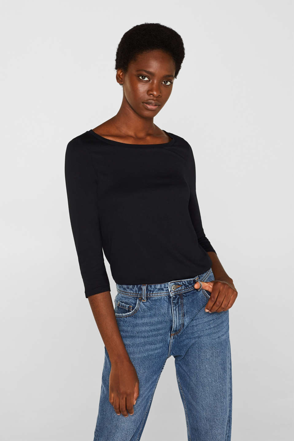 Esprit - Two-pack: Long sleeve top with organic cotton