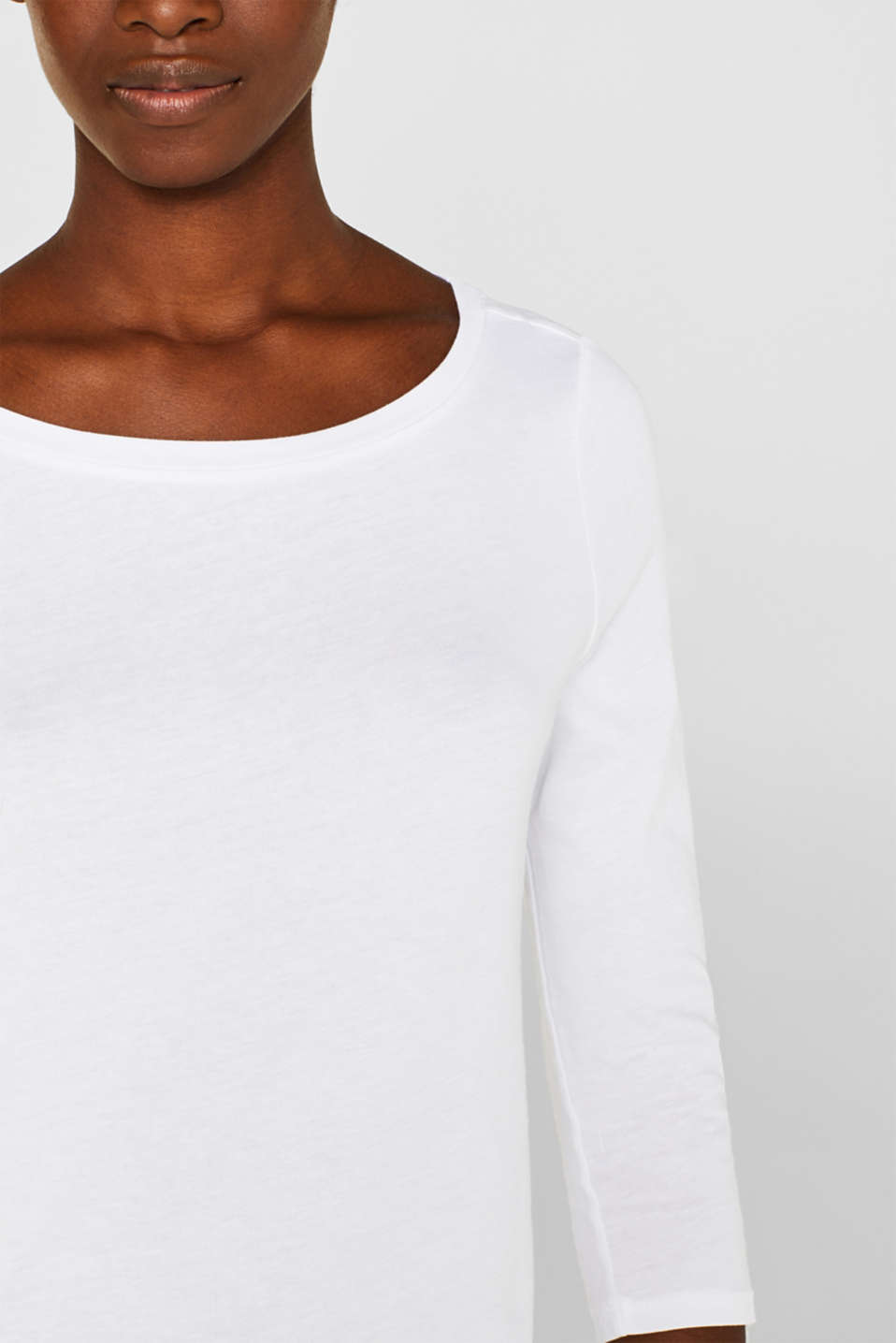 Two-pack: Long sleeve top with organic cotton, WHITE, detail image number 5