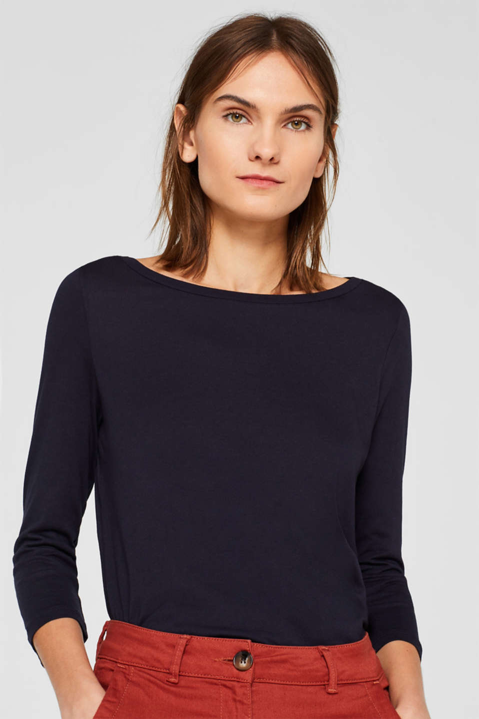 Two-pack: Long sleeve top with organic cotton, NAVY, detail image number 0
