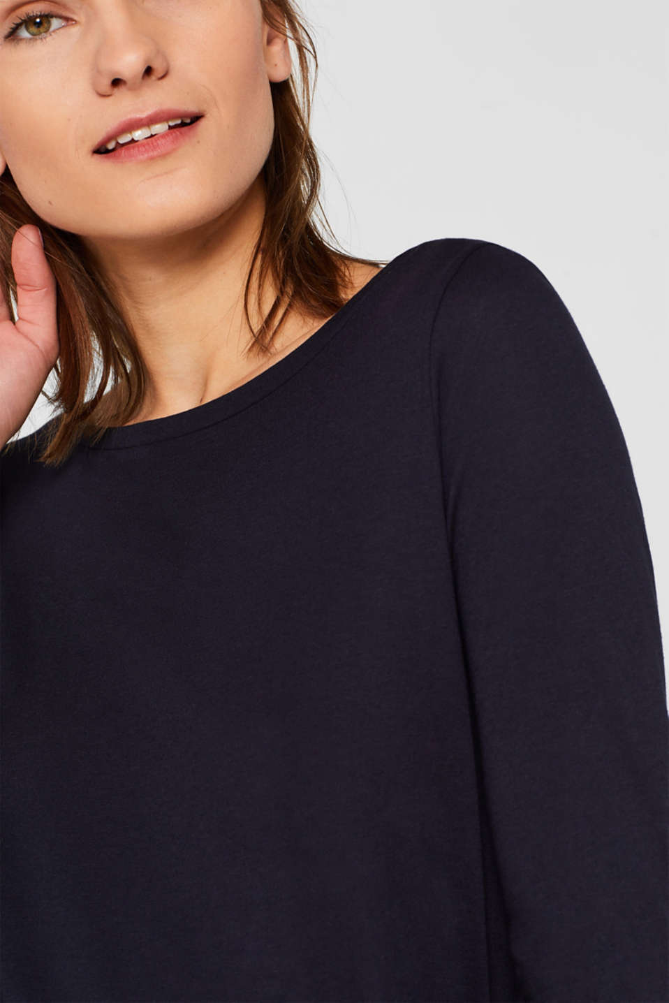 Two-pack: Long sleeve top with organic cotton, NAVY, detail image number 6