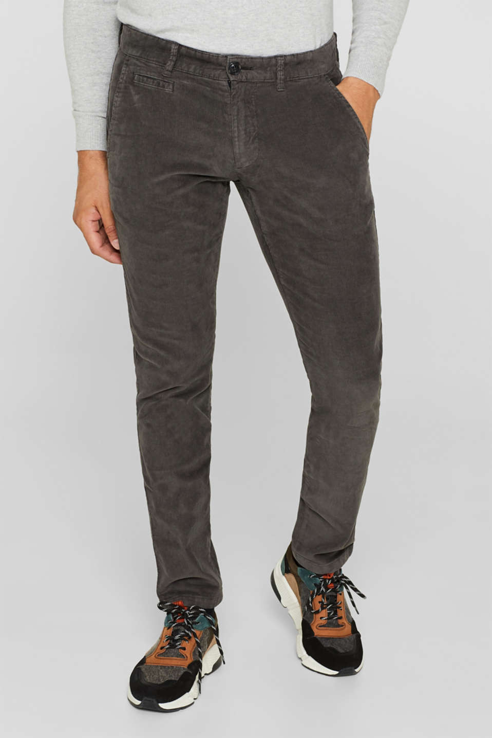 Esprit - Corduroy trousers made of 100% cotton