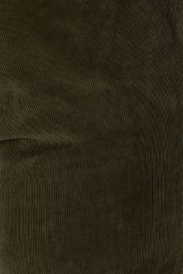 Corduroy trousers made of 100% cotton, OLIVE, detail