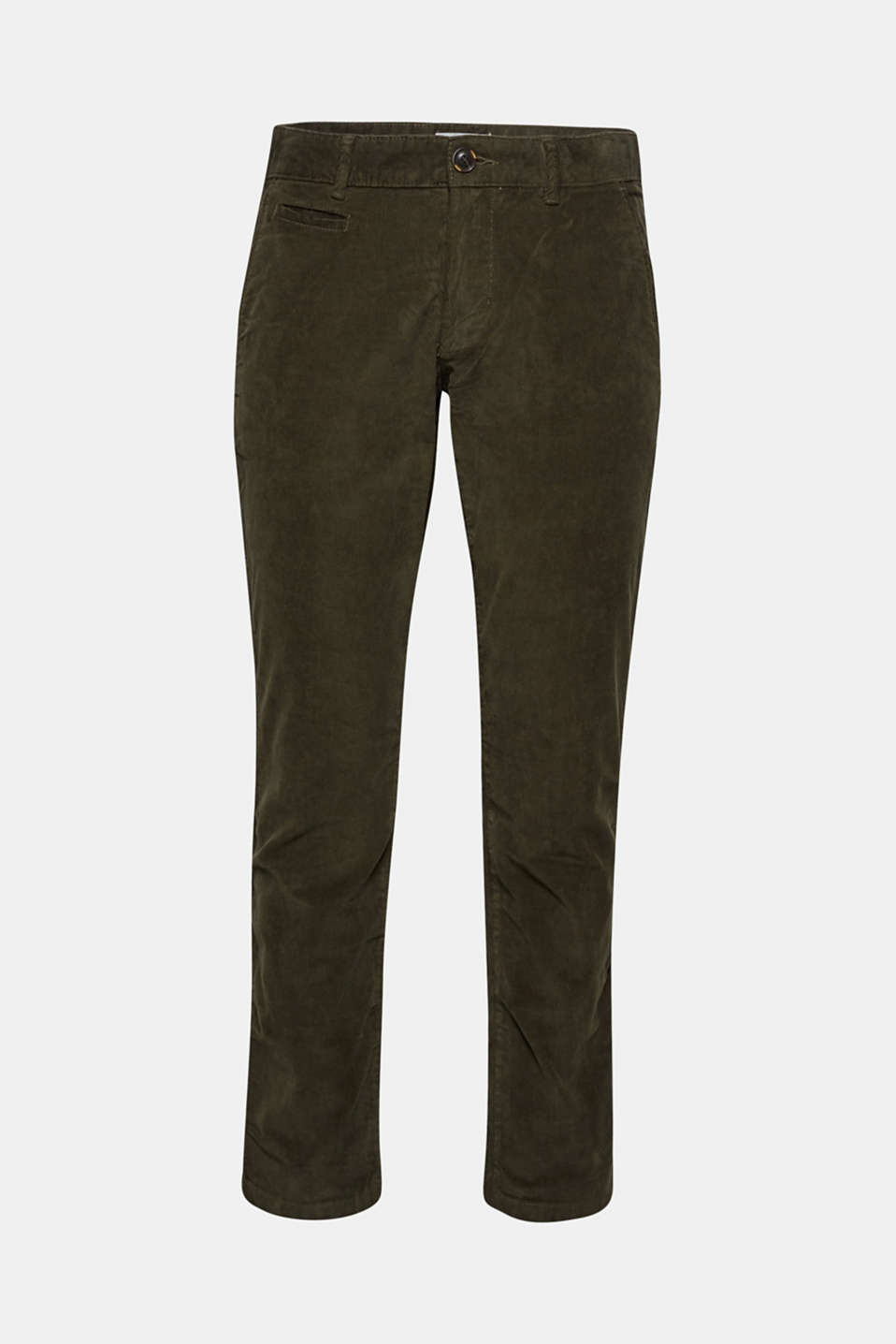 Corduroy trousers made of 100% cotton, OLIVE, detail image number 5