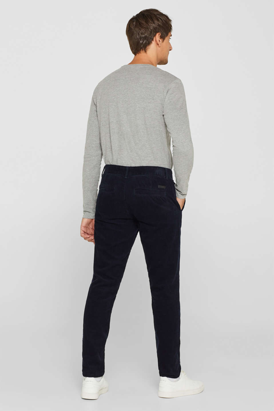 Corduroy trousers made of 100% cotton, NAVY, detail image number 3