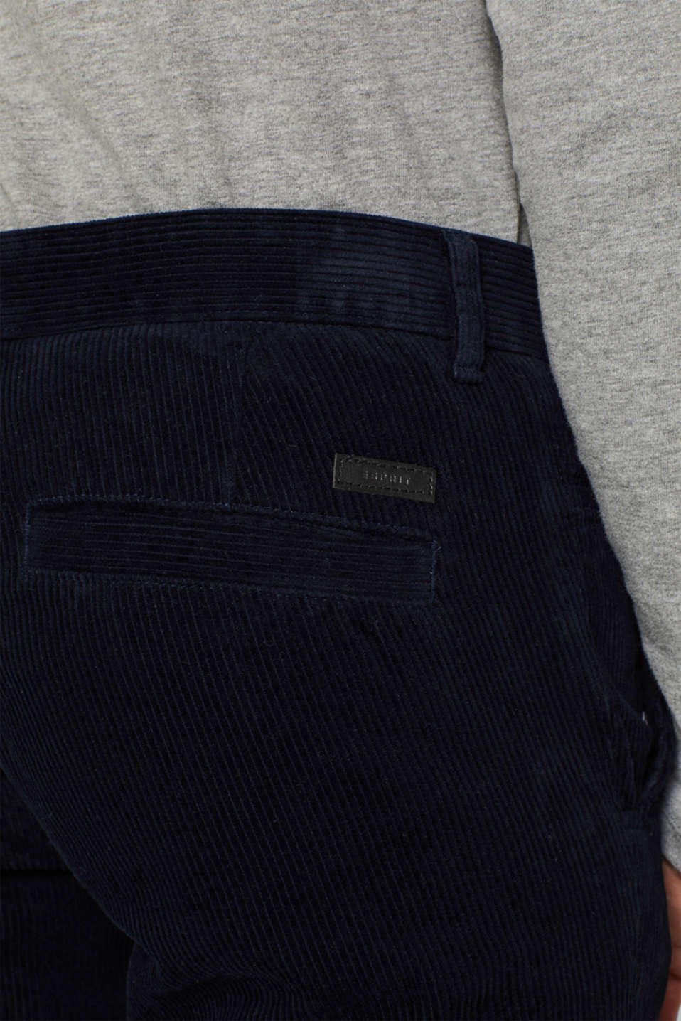 Corduroy trousers made of 100% cotton, NAVY, detail image number 2