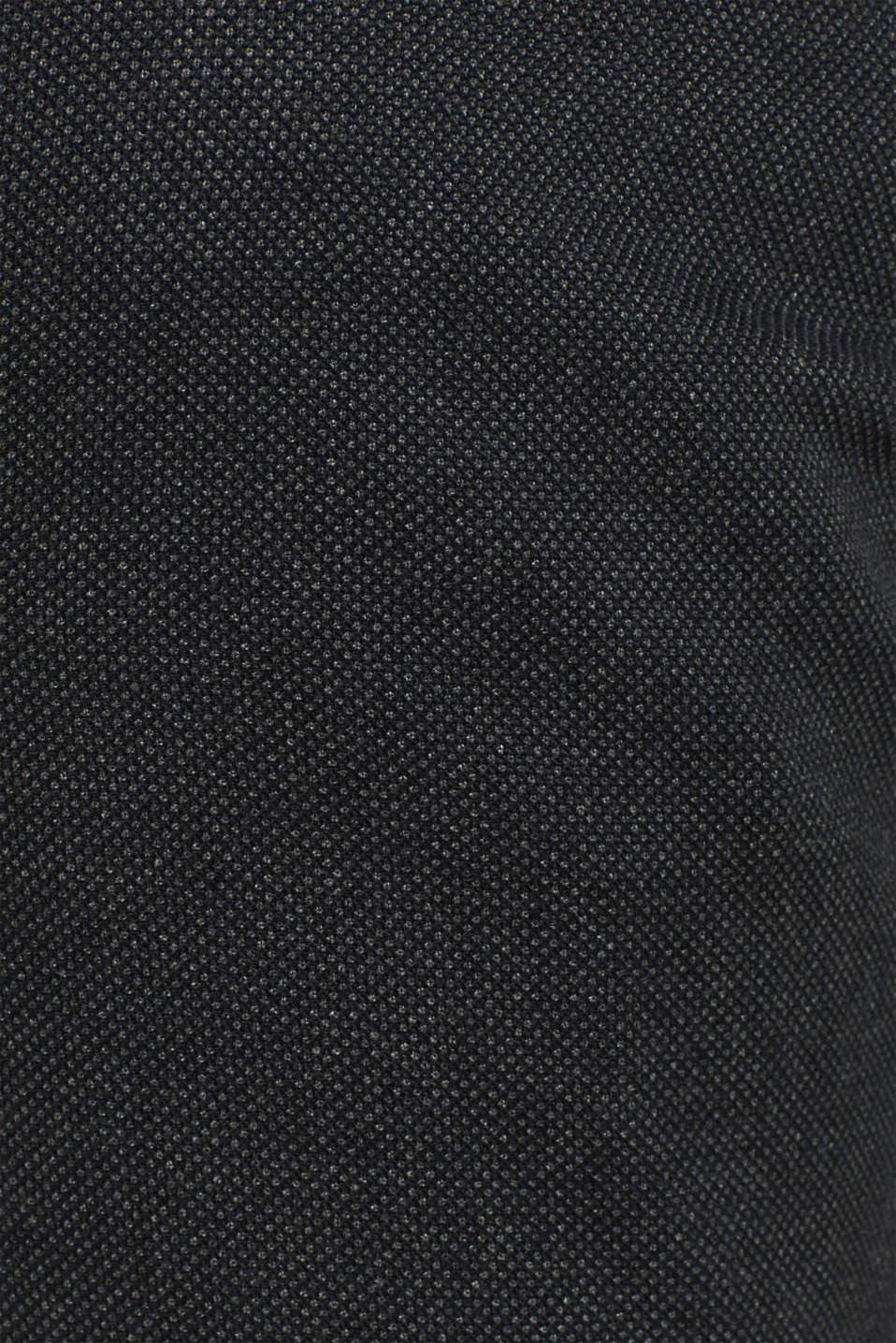 Stretch trousers with a checked texture, BLACK, detail image number 4