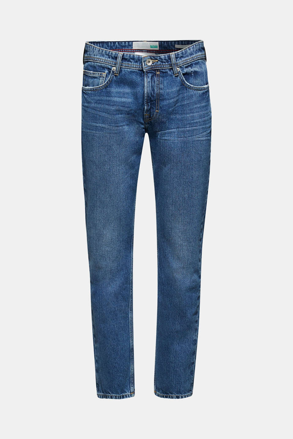 Stone wash jeans, 100% cotton, BLUE MEDIUM WASH, detail image number 5