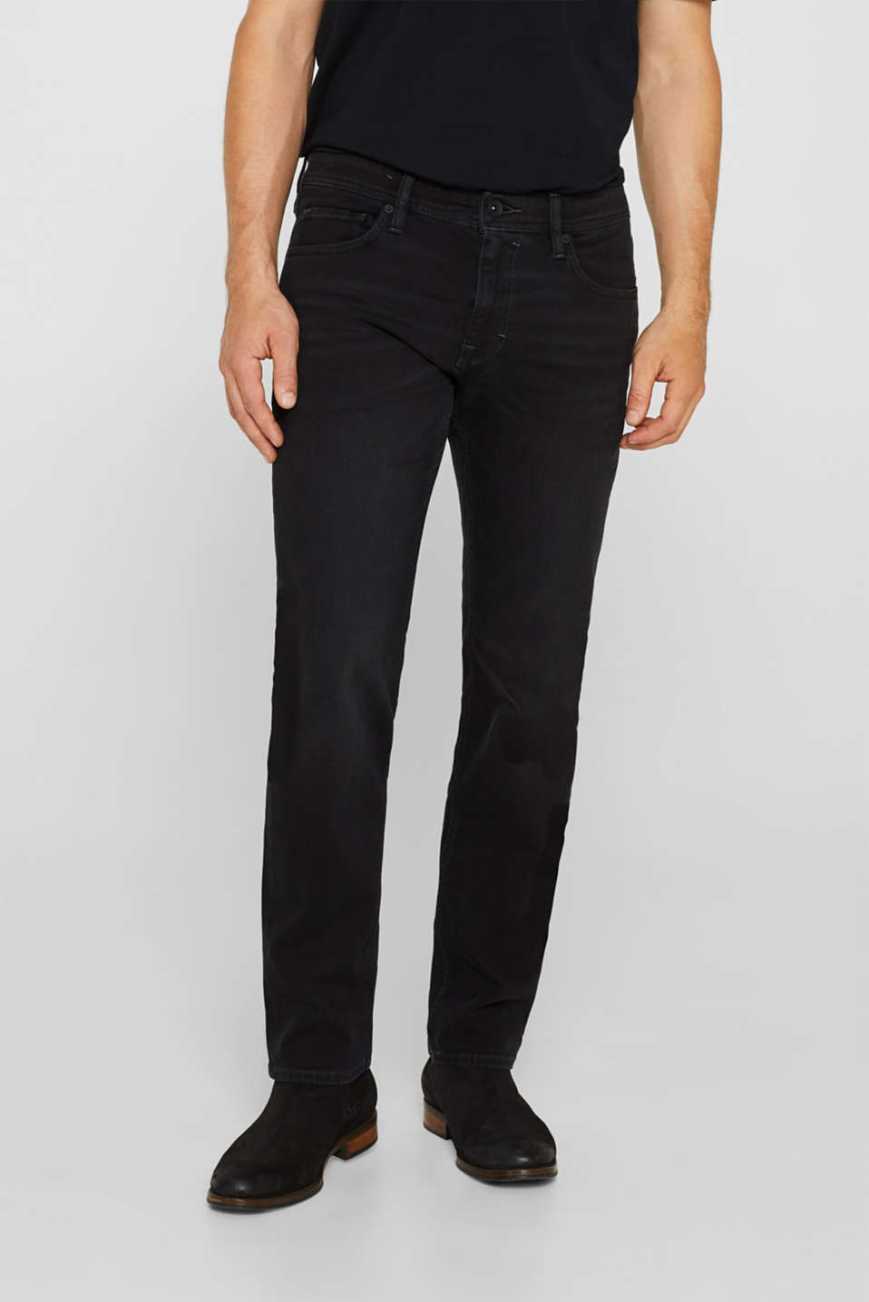 Esprit - Superstretch-jeans med washed out-effekt