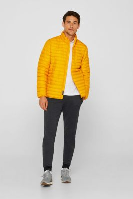 Sweatshirt fabric tracksuit bottoms with a logo print, DARK GREY, detail
