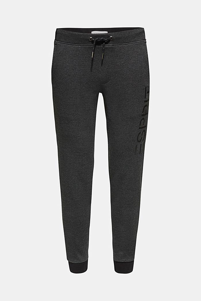 Pantaloni in felpa con stampa del logo, DARK GREY, detail image number 0