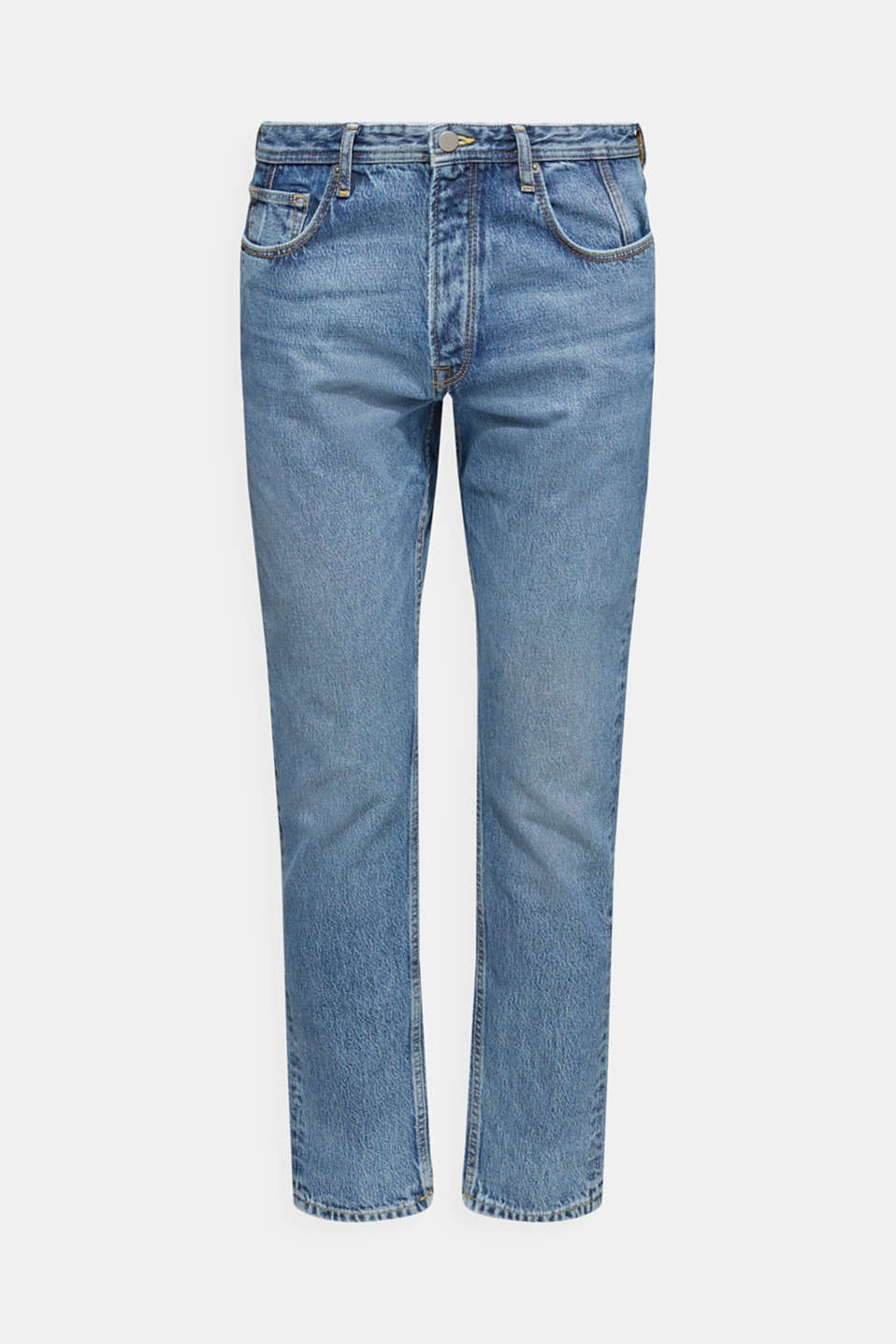 #throwback jeans with lyocell, BLUE MEDIUM WASH, detail image number 6