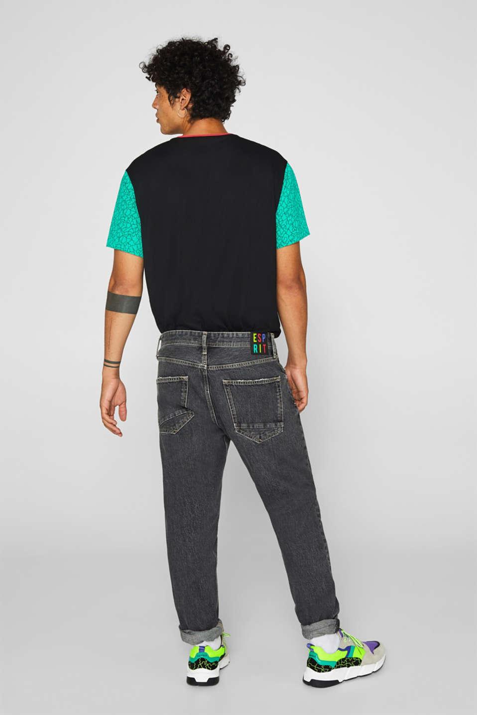 #throwback jeans made of 100% cotton, BLACK MEDIUM WASH, detail image number 4