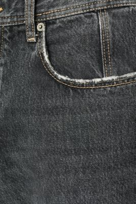#throwback jeans made of 100% cotton, BLACK MEDIUM WASH, detail