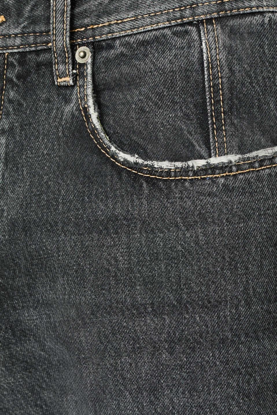 #throwback jeans made of 100% cotton, BLACK MEDIUM WASH, detail image number 3