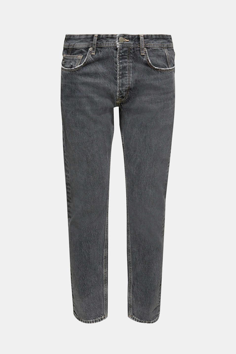 #throwback jeans made of 100% cotton, BLACK MEDIUM WASH, detail image number 6