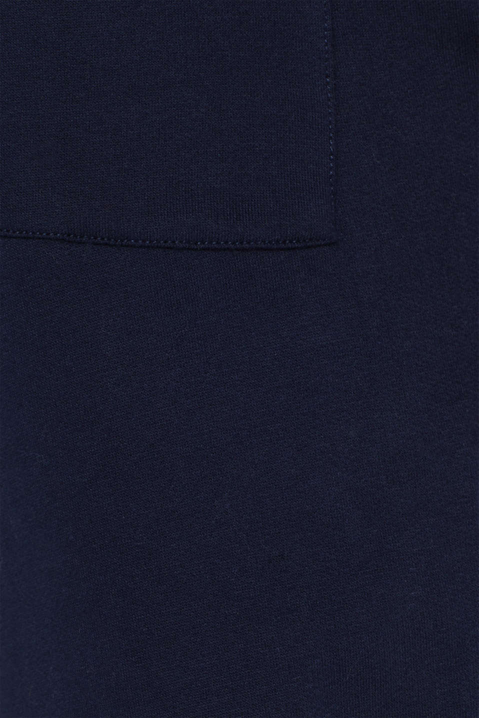 Tracksuit bottoms with a logo print, 100% cotton, NAVY, detail image number 4