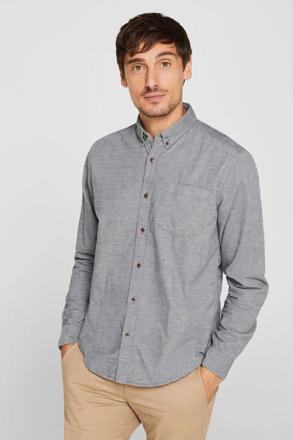 Esprit - Corduroy shirt, 100% cotton