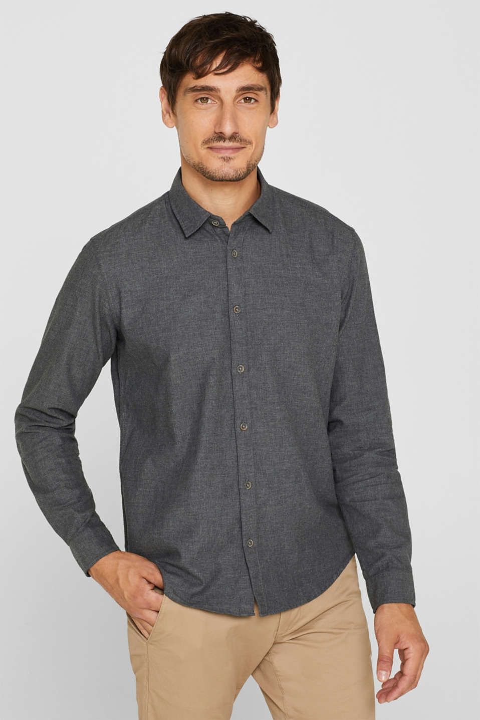 Esprit - Softly brushed shirt made of 100% cotton