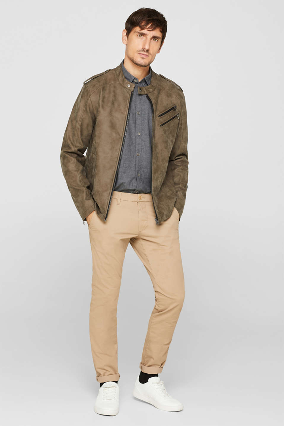 Shirts woven Regular fit, DARK GREY, detail image number 1