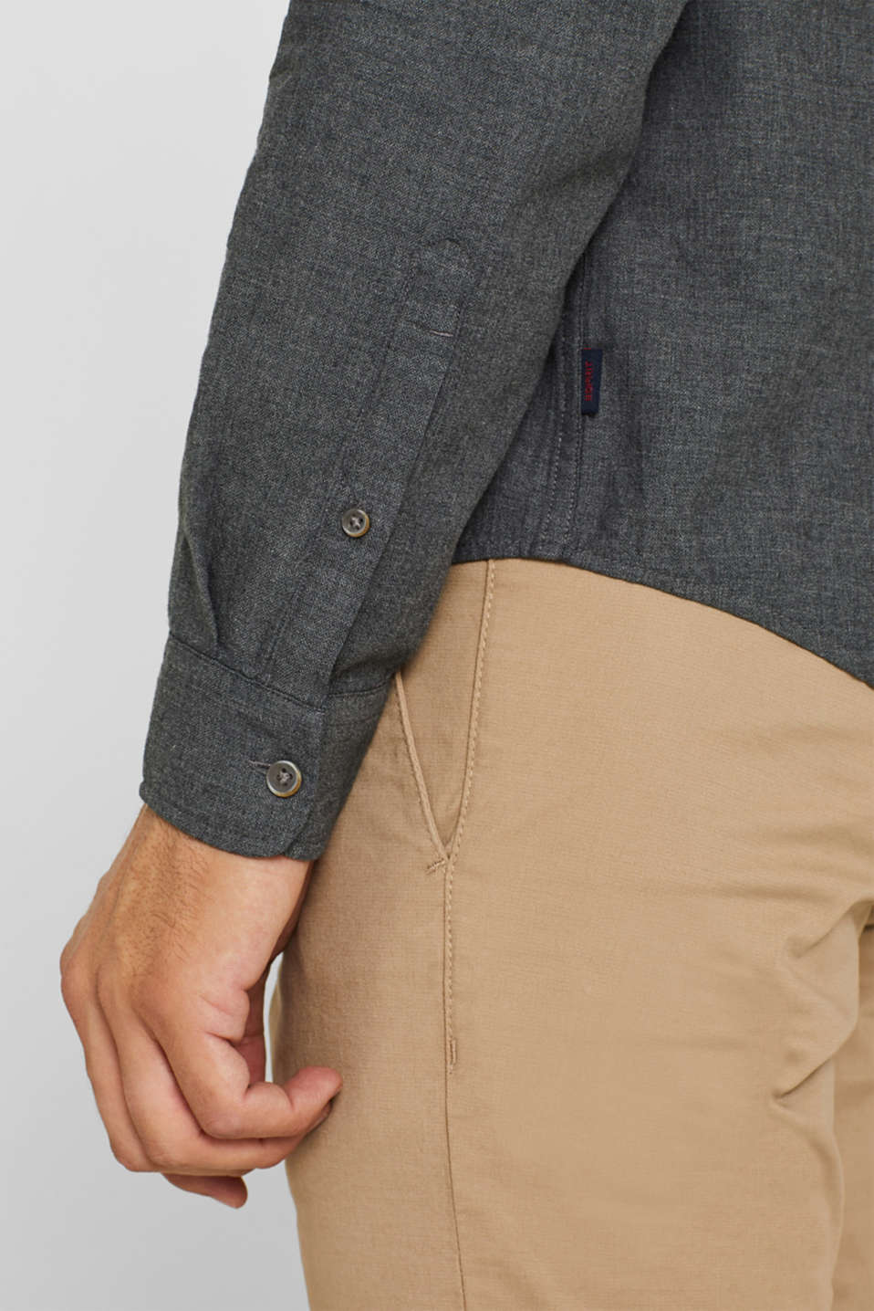 Shirts woven Regular fit, DARK GREY, detail image number 2