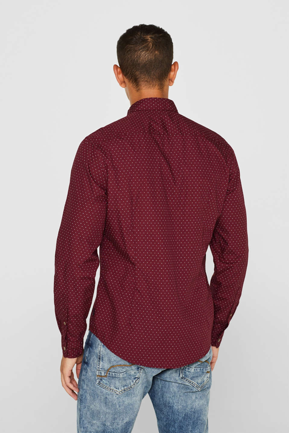Shirts woven Slim fit, BORDEAUX RED, detail image number 3