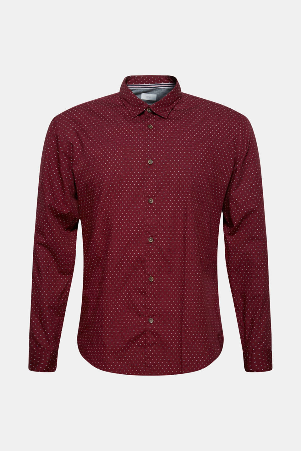 Shirts woven Slim fit, BORDEAUX RED, detail image number 7