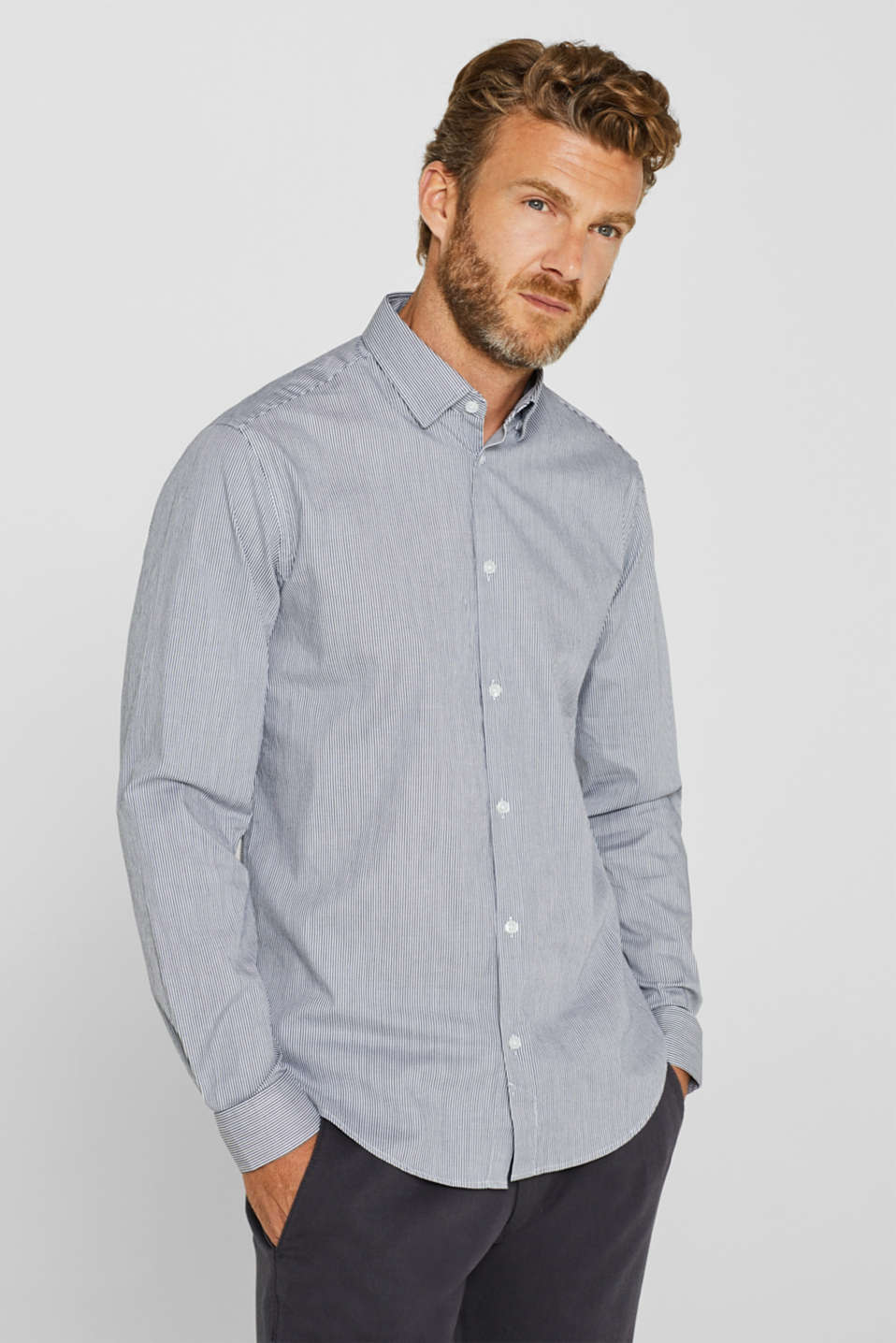 Esprit - Striped shirt with COOLMAX® technology