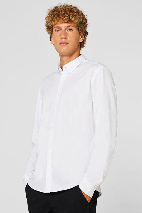 Button-down shirt made of jersey 100% cotton