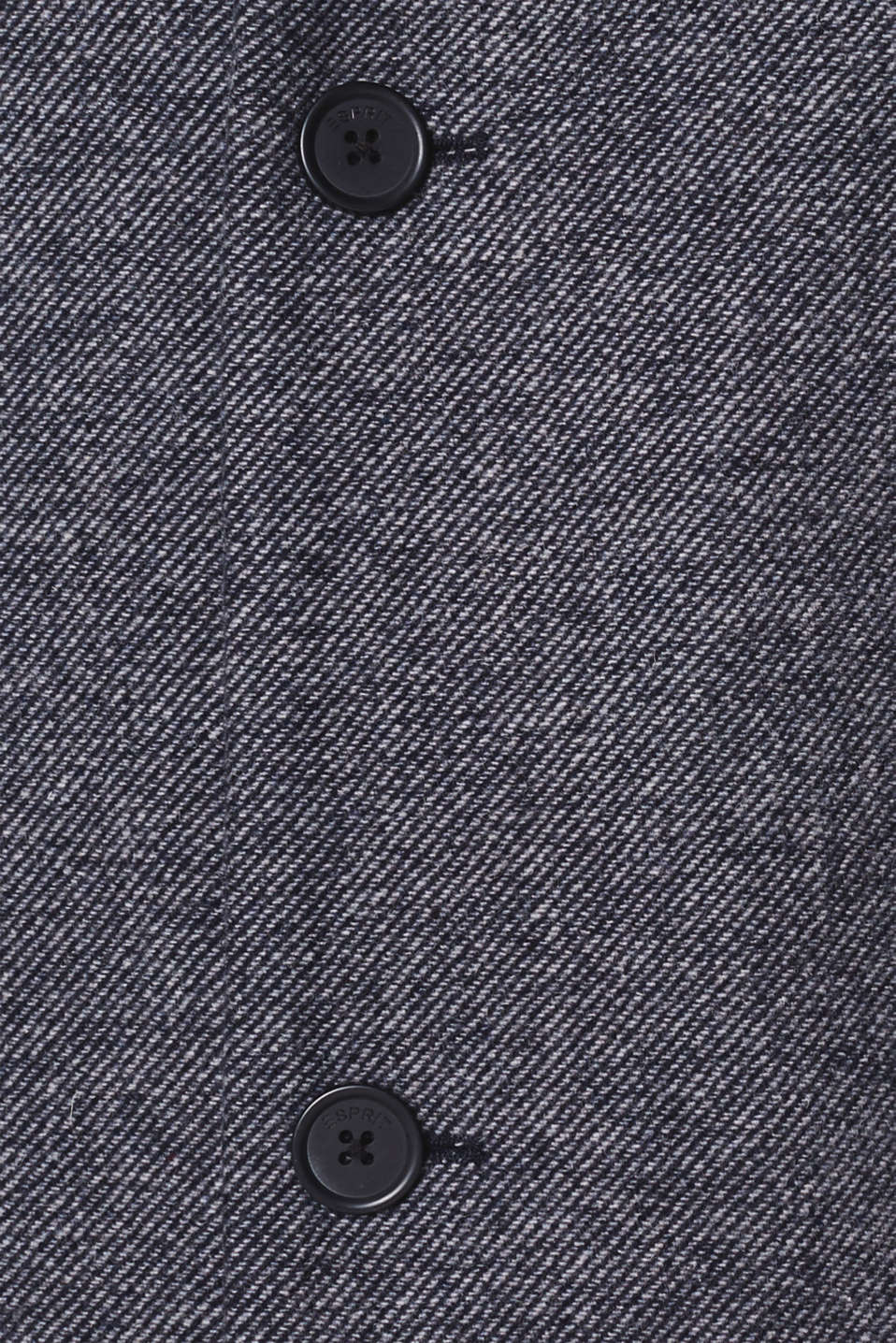 Wool blend: Coat with wide collar, DARK BLUE, detail image number 4