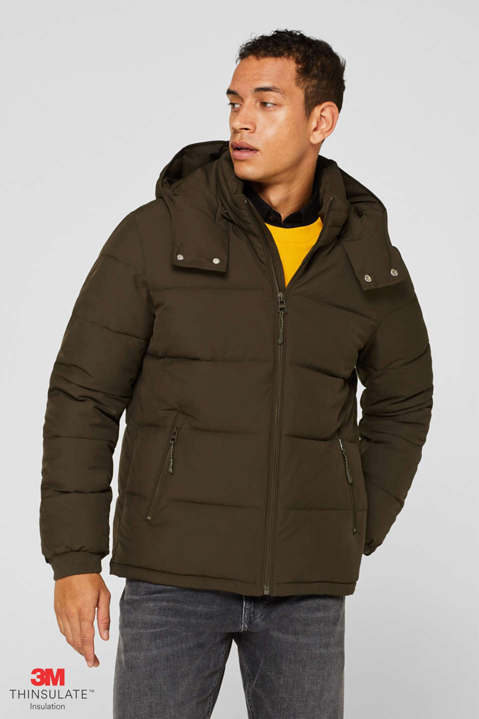 Esprit - Quilted jacket with 3M® Thinsulate filling