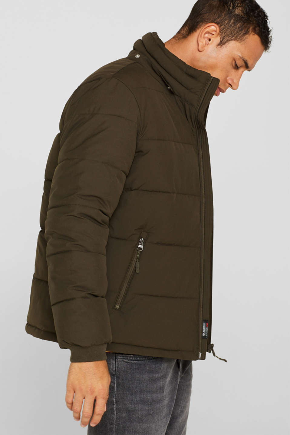 Quilted jacket with 3M™ Thinsulate™ padding, DARK KHAKI, detail image number 4