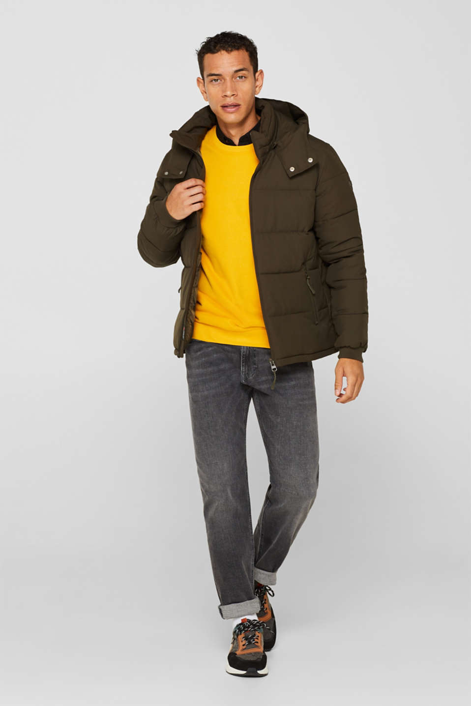 Quilted jacket with 3M™ Thinsulate™ padding, DARK KHAKI, detail image number 1