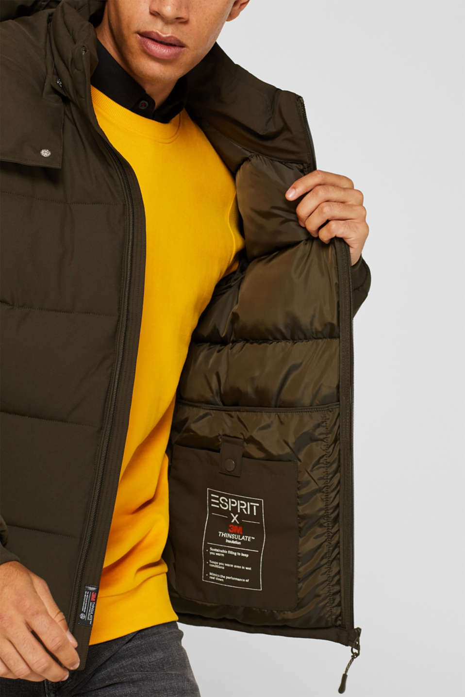 Quilted jacket with 3M™ Thinsulate™ padding, DARK KHAKI, detail image number 2