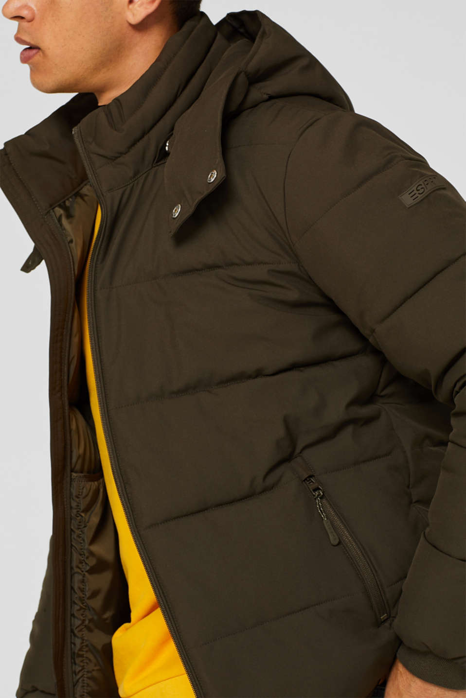 Quilted jacket with 3M™ Thinsulate™ padding, DARK KHAKI, detail image number 7