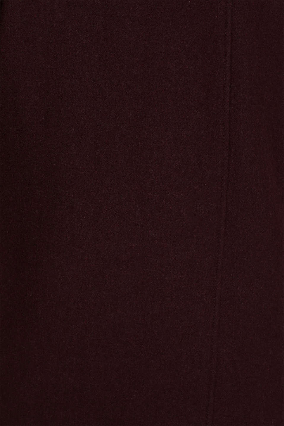 Wool blend: Bomber jacket with a shirt collar, BORDEAUX RED, detail image number 4