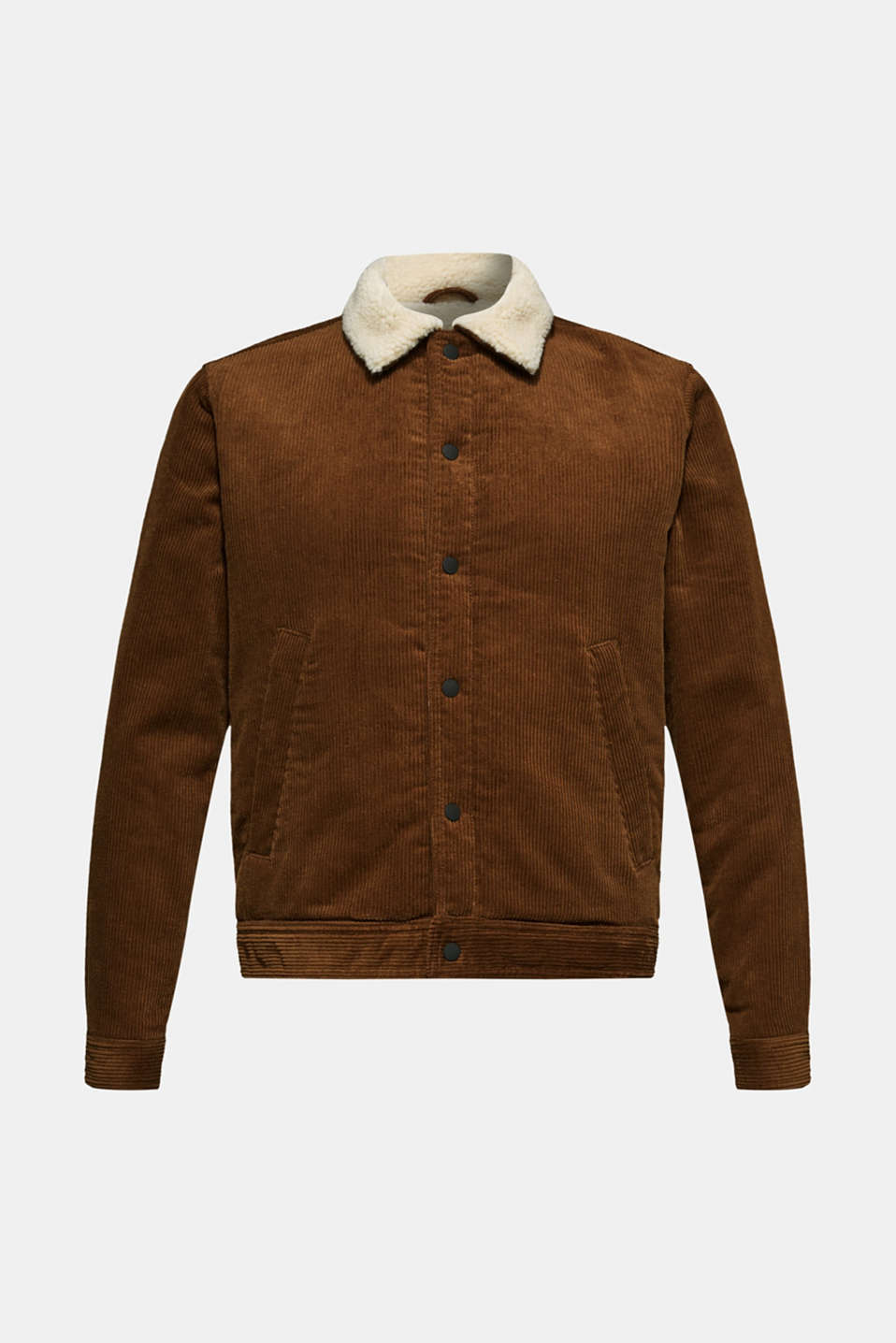 Corduroy jacket with faux shearling lining, CAMEL, detail image number 6