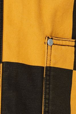 Padded jacket with a checkerboard pattern, BLACK, detail